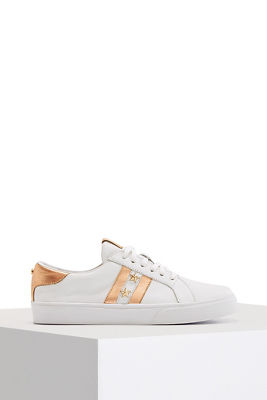 star embellished lace-up sneaker