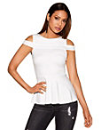Shoulder Strap Peplum Top Photo