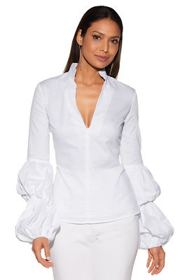 Display product reviews for Puff sleeve shirt