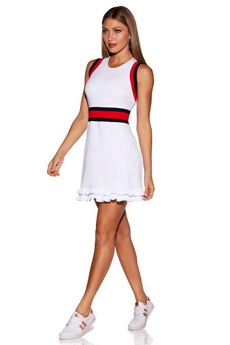 Sporty ruffle dress image