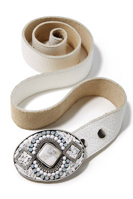 White buckle belt