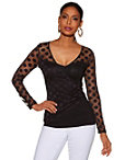 Ruched Dot Top Photo