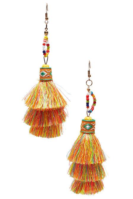 Seed bead tassel earrings image