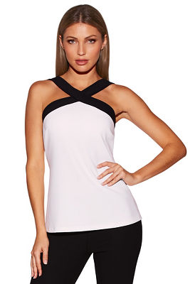 Beyond travel™ crossover colorblock top