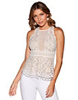 Deep V Illusion Sleeveless Top Photo