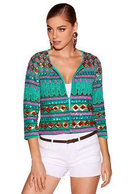 Embellished boho jacket
