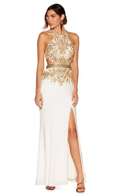 Embellished cutout gown