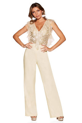 Embellished top jumpsuit