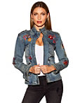 Embroidered Twill Denim Jacket Photo