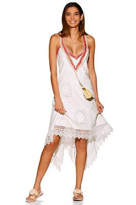 lace tassel trim dress