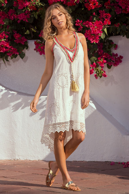 Lace tassel trim dress image