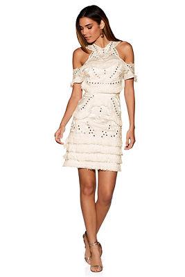 266c05faa5c8 Wide leg halter jumpsuit · Mirrored fringe dress