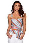 Multicolored Stripe Sash Top Photo