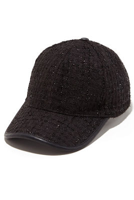 sparkle tweed baseball hat