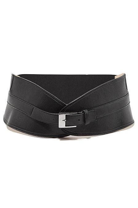 Wide fashion belt image