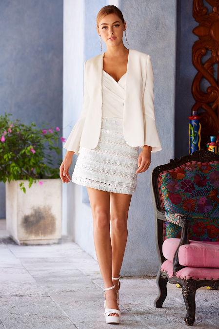 Fringe and paillette skirt image