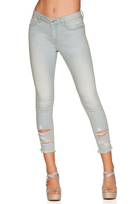 Marley skinny destroyed ankle jean