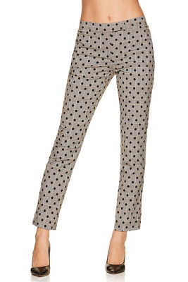 Polka dot and plaid ankle pant