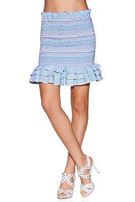 2 in 1 smocked poplin skirt