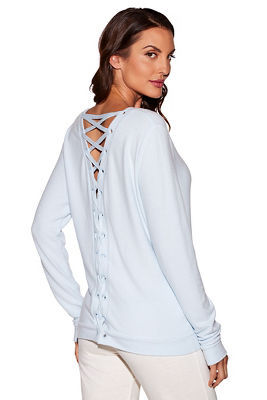 Kristy comfy lace-up top