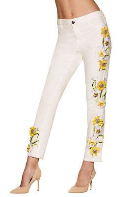 Display product reviews for Daisy embellished jean
