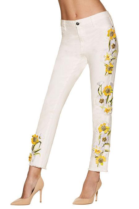 Daisy embellished jean image