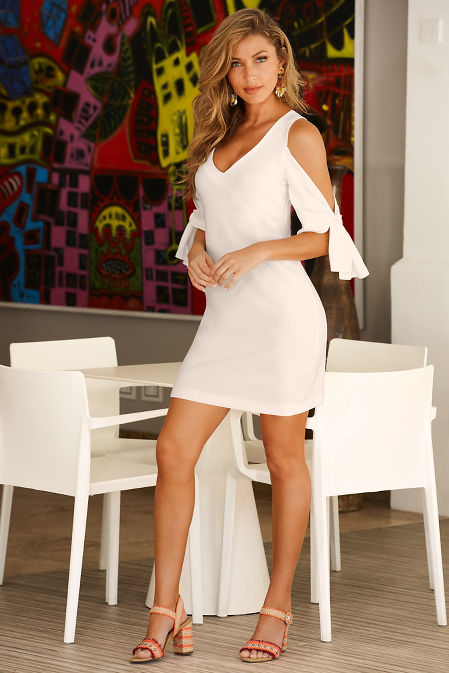 Beyond travel™ tie sleeve dress image