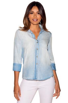 Proper™ pocket denim button-down shirt