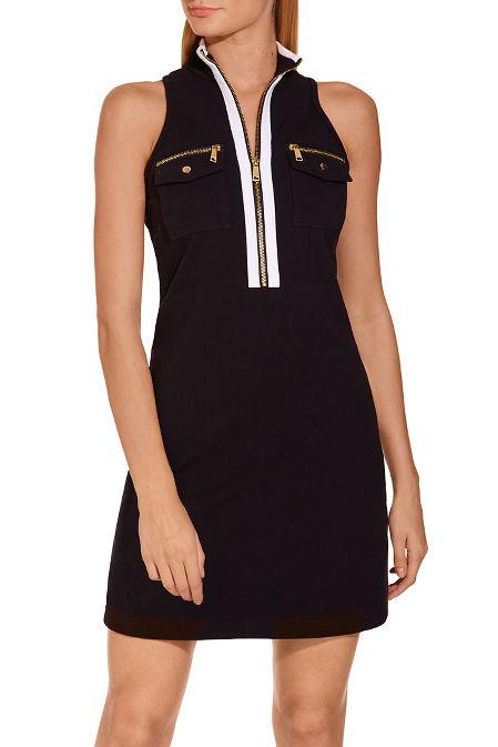 Racerback chic zip dress image