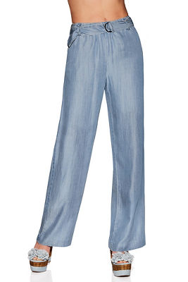 Belted tencel pant