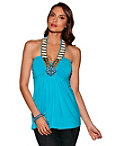 Embellished Neckline Halter Top Photo