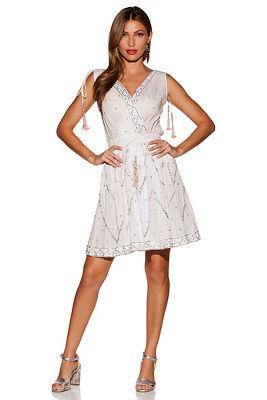 Embellished tassel sleeveless dress
