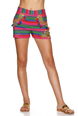 Embellished striped short