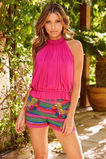 Embellished striped short image