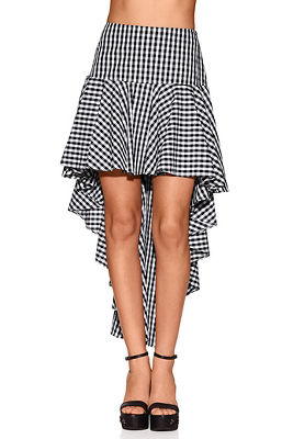 Gingham hi-lo skirt