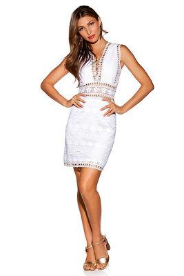Grommet lace dress
