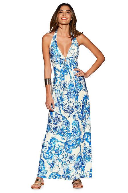 Painted paisley maxi dress image