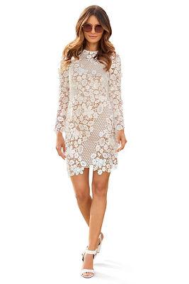 Lace long-sleeve dress