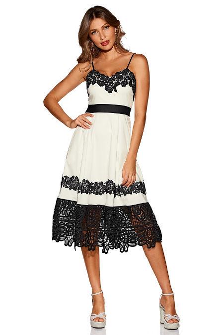 Lace trim dress image