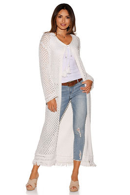 medallion crochet duster sweater