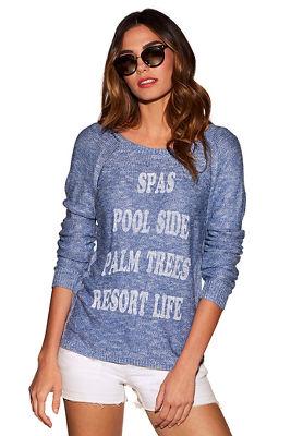 Resort life graphic sweater