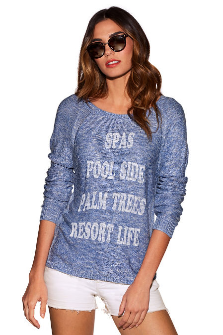 Resort life graphic sweater image