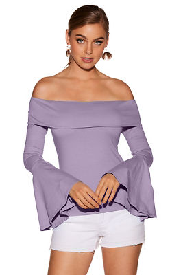 So Sexy™ off-the-shoulder flare-sleeve top