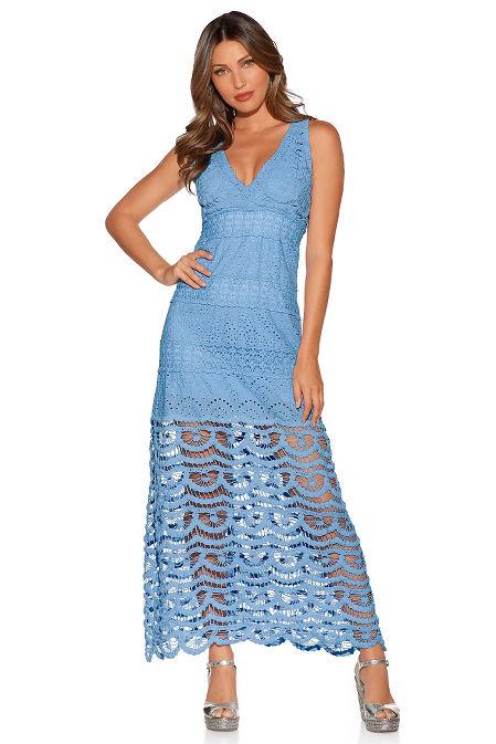 Crochet inset maxi dress image