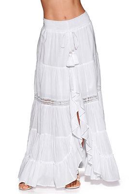 crochet inset boho maxi skirt