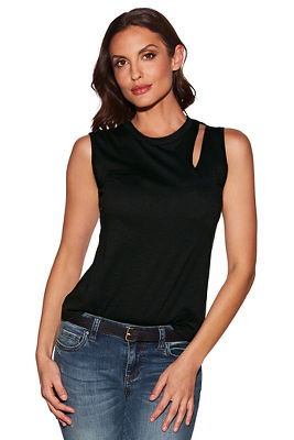 Slub cutout tank top