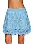 Floral Lace Mini Skirt Photo