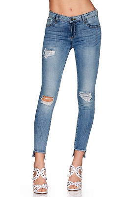 frayed hem destroyed ankle jean