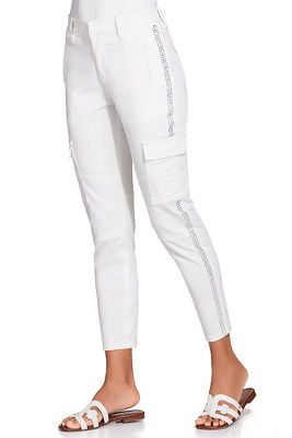 Shimmer stripe cargo pant