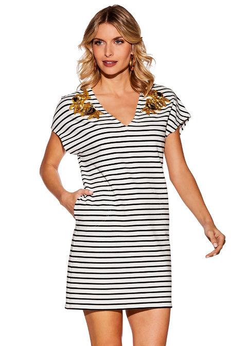Stripe embellished sport dress image